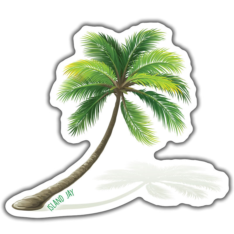 Palm Tree Die Cut Beach Sticker