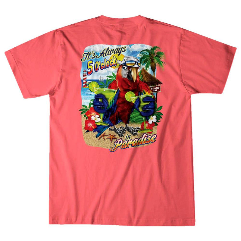 It's Always 5 O'Clock in Paradise Margarita Parrot T-Shirt