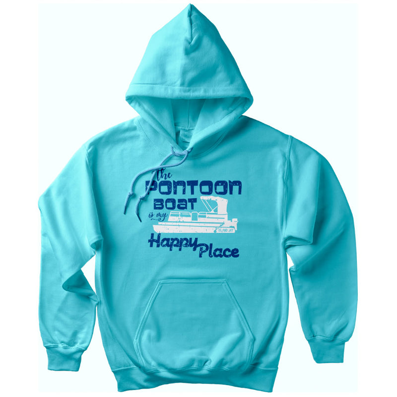 The Pontoon Boat is my Happy Place Soft Style Pullover Hoodie