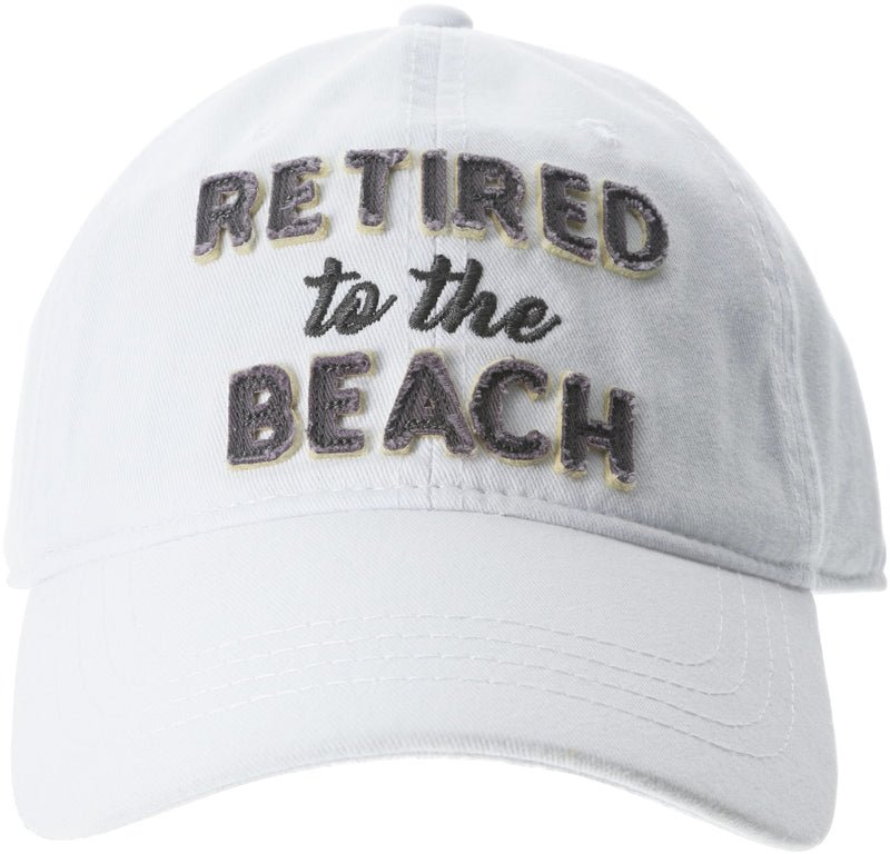 Retired To The Beach Adjustable Hat