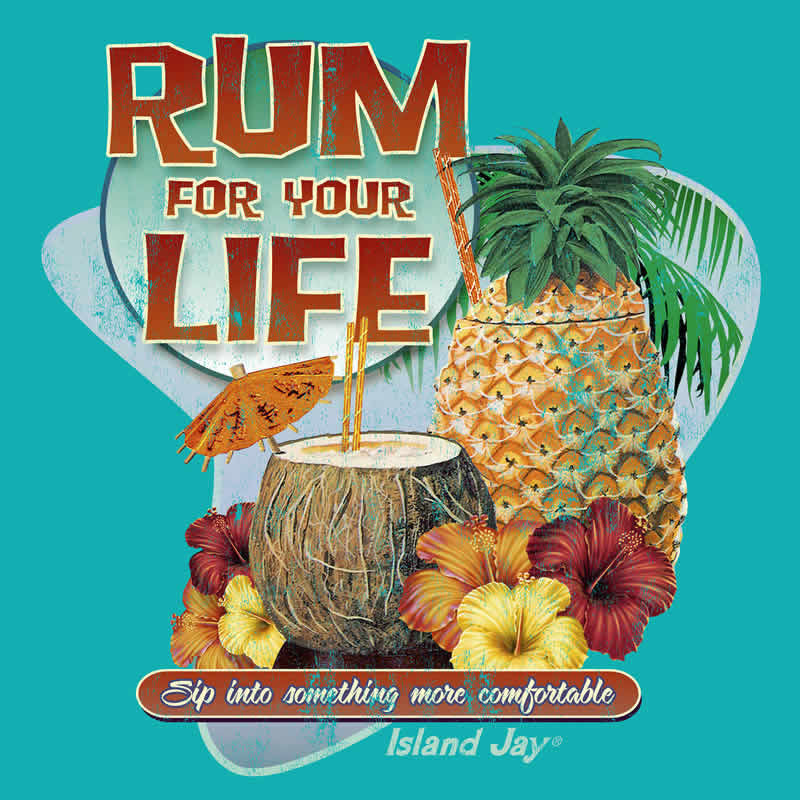 "Rum For Your Life 4"" Sticker"