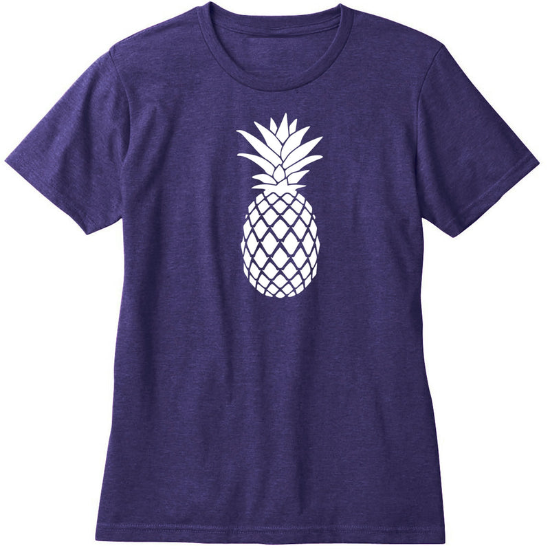 Ladies Simple Pineapple Crew Neck T-Shirt
