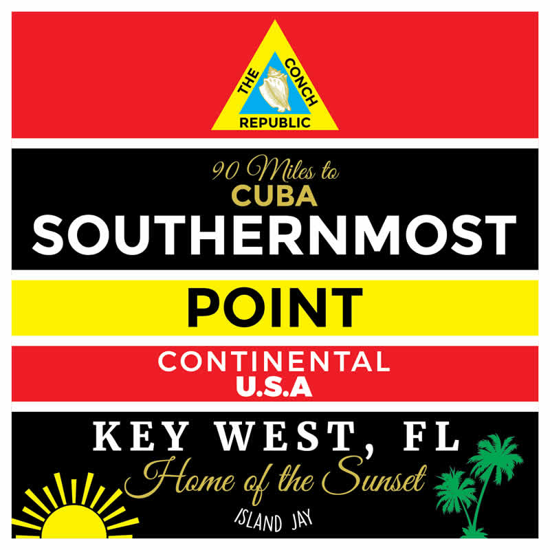 Southernmost Point Key West Die Cut Beach Sticker