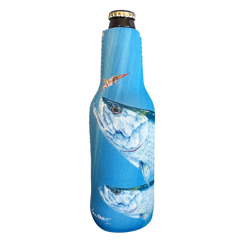 Tarpon Zippered Beer Bottle Cooler Sleeve