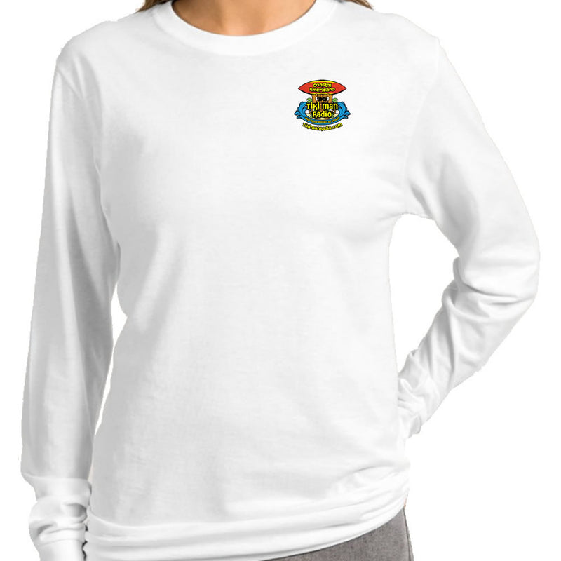 Ladies Tiki Man Radio Coastal Americana Long Sleeve T-Shirt