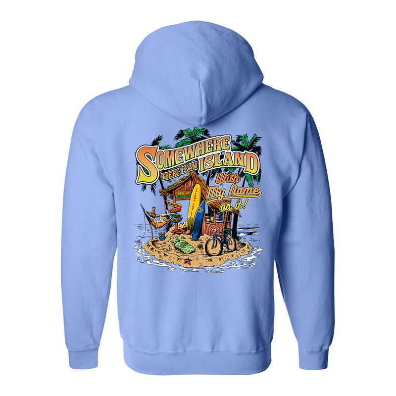 Somewhere There Is An Island Soft Style Full Zipper Hoodie