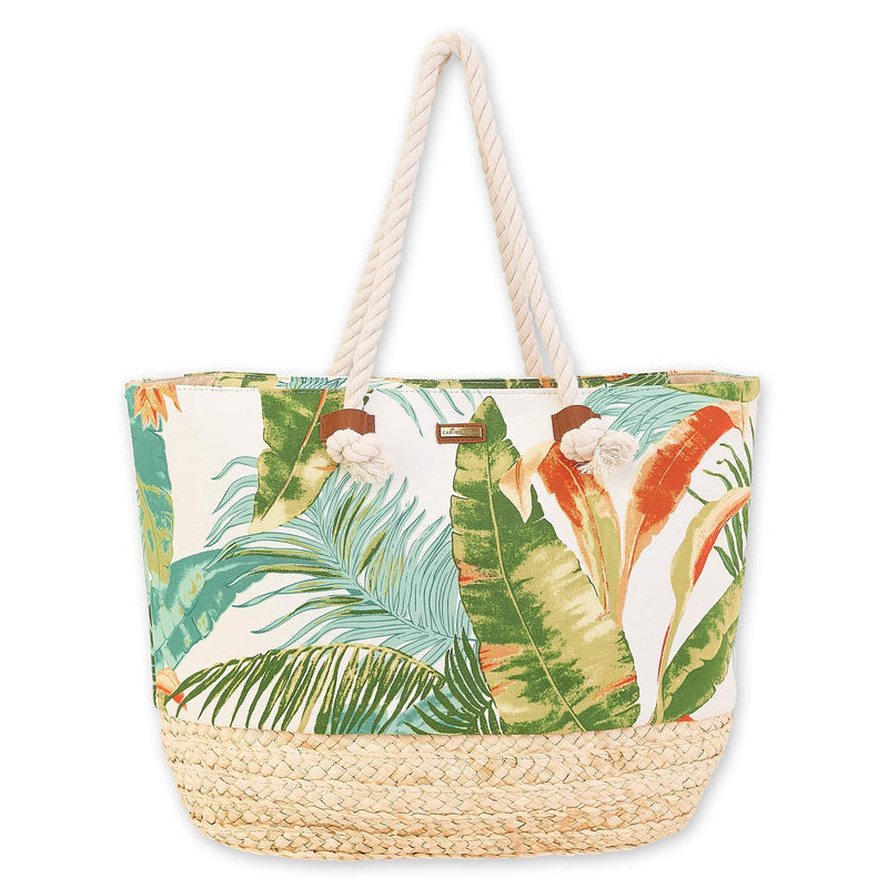 Caribbean Joe Leaves & Weaves Shoulder Tote