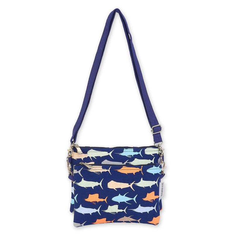 Guy Harvey Sea Life Crossbody Beach Bag