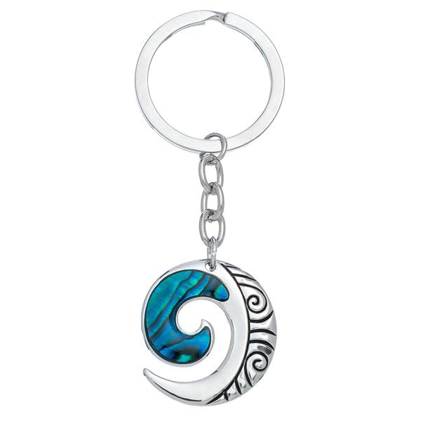 Howard Abalone Wave Keychain