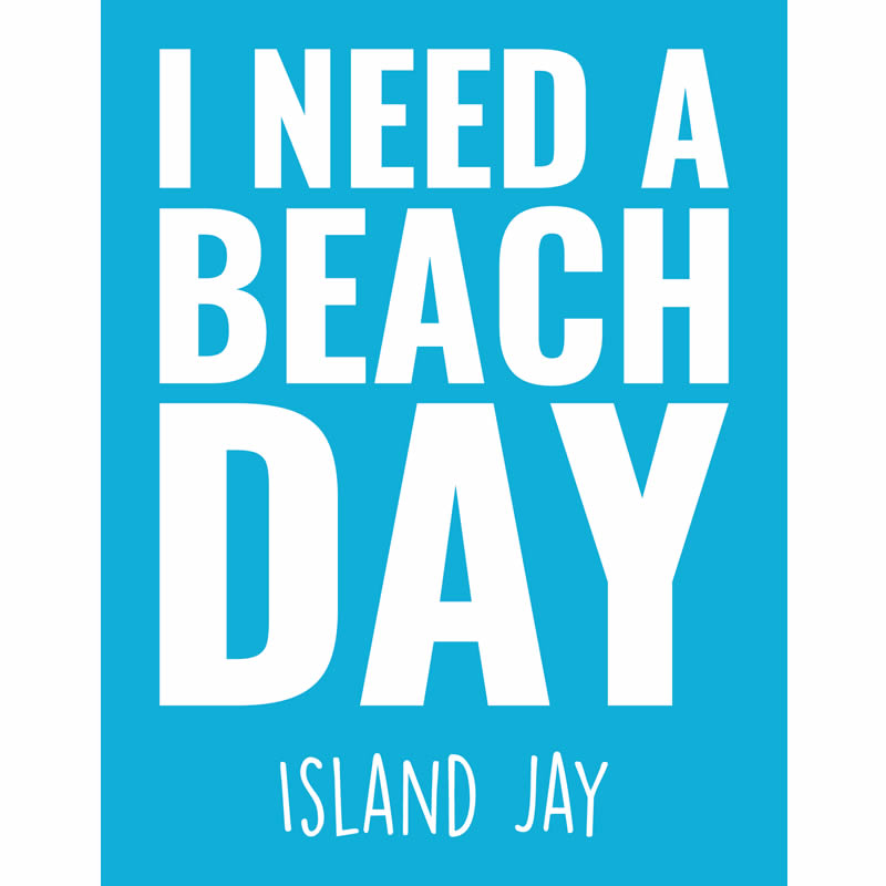 I Need a Beach Day Beach Sticker