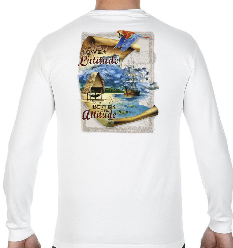 The Lower The Latitude The Better the Attitude Long Sleeve T-Shirt