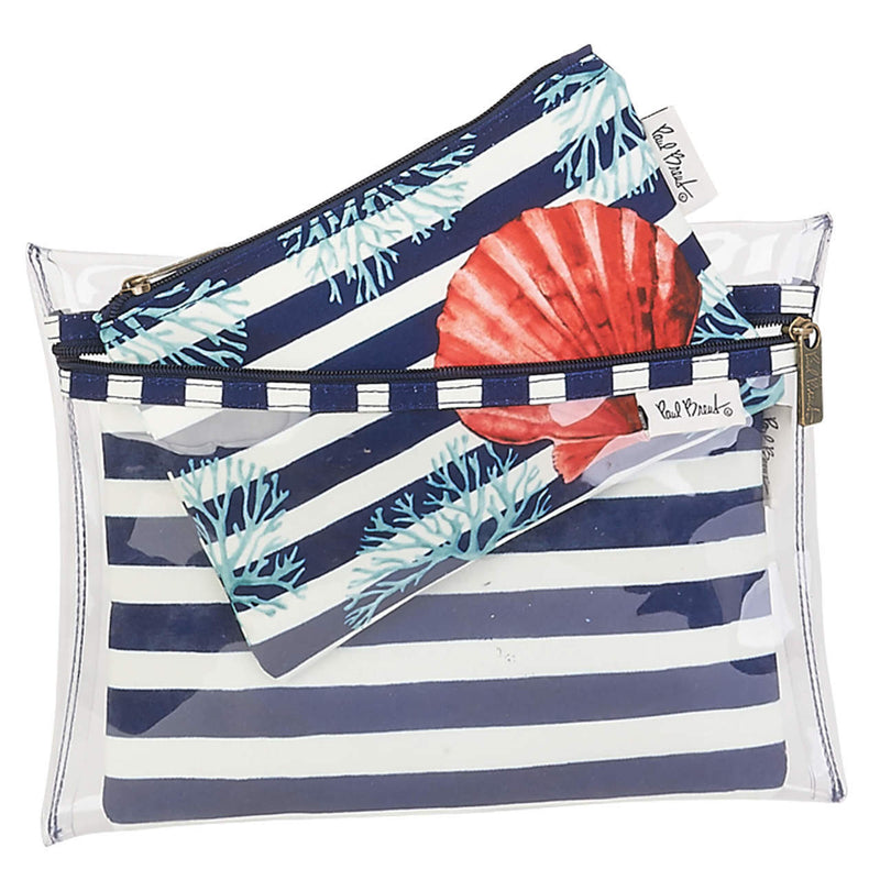 Summertime Seashell Travel Bag 3 Piece Set