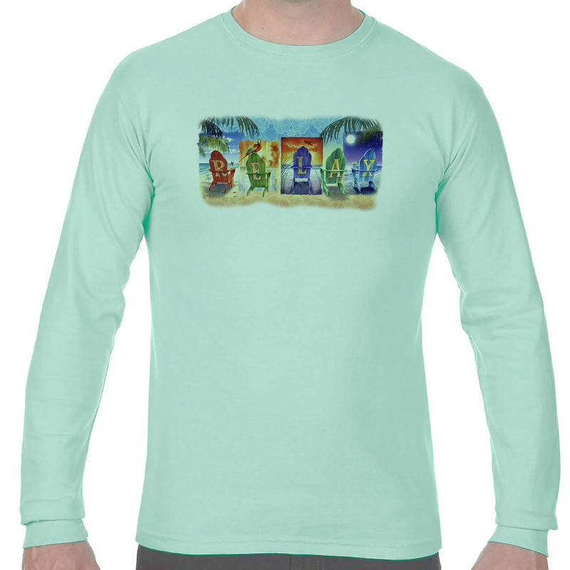 Relax by the Beach Long Sleeve T-Shirt