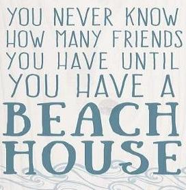 You Never Know How Many Friends You Have Beach Sign 5""