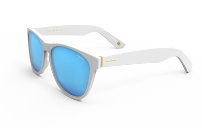 Snowbird - Matte White / Blue | Shades Club