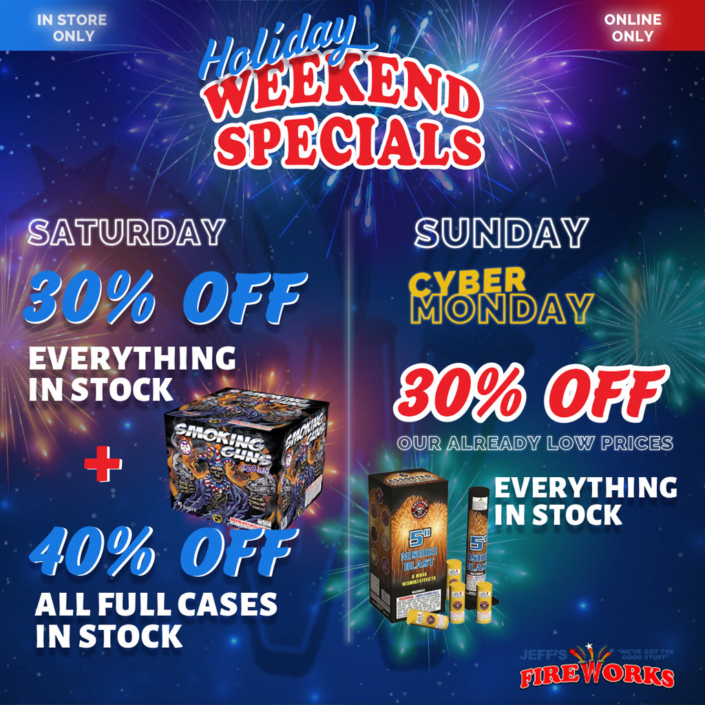 Cyber Monday Firework Sale