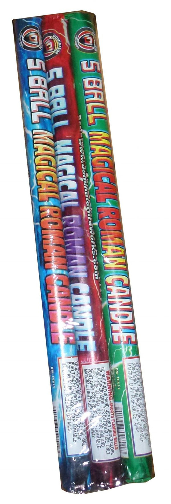 5 Ball Magical Roman Candle (96/3) - Jeff's Fireworks