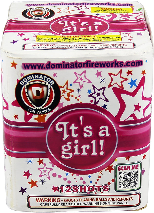 Its A Girl - 12 Shot Cake - Jeff's Fireworks