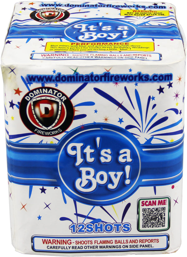 Its A Boy - 12 Shot Cake - Jeff's Fireworks