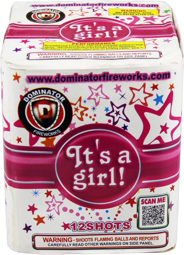 It�s A Girl - 12 Shot Cake - Jeff's Fireworks