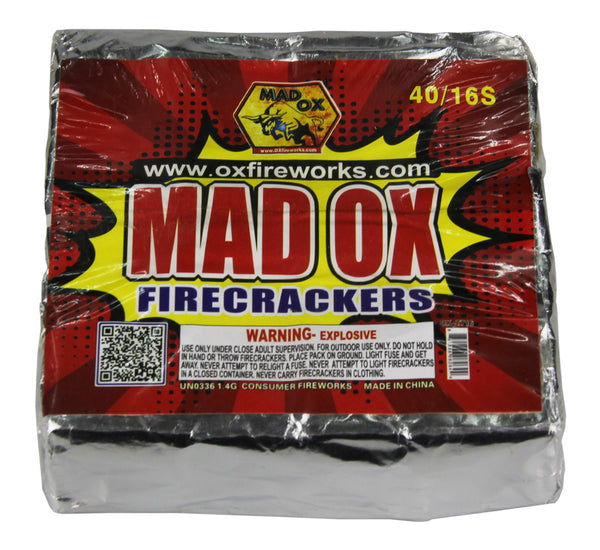 Mad OX Firecrackers (Half Brick) - Jeff's Fireworks
