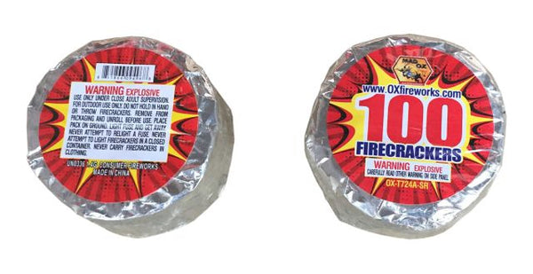 Ox Firecrackers 100 Compact Roll - Jeff's Fireworks