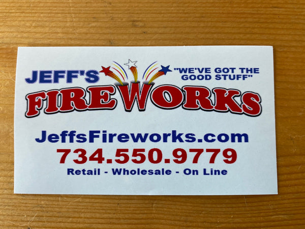 Jeff's Fireworks Sticker - Jeff's Fireworks