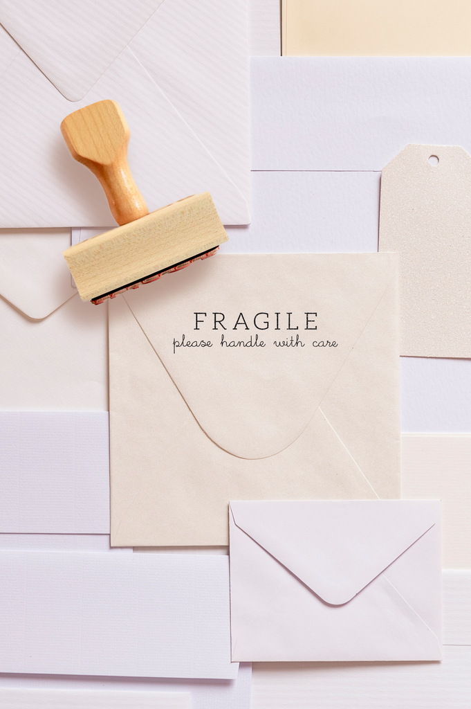Branch Collection - Fragile / Please Handle With Care Stamp by Creatiate - Custom Rubber Stamp - We make awesome rubber stamps so that you can create quick + easy, branded + professional custom packaging.