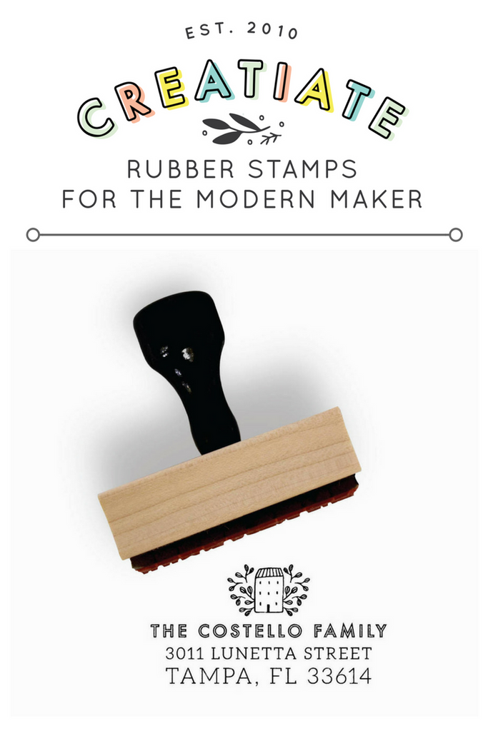 Creatiate Custom Return Address Stamp | Rubber Stamps for the Modern Maker by Creatiate, Sweetest Home Design from the Modern Minimalist Collection