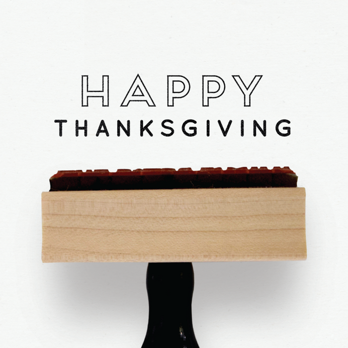 Creatiate Rubber Stamps - Elegance Holiday Stamps Collection - Happy Thanksgiving Stamp