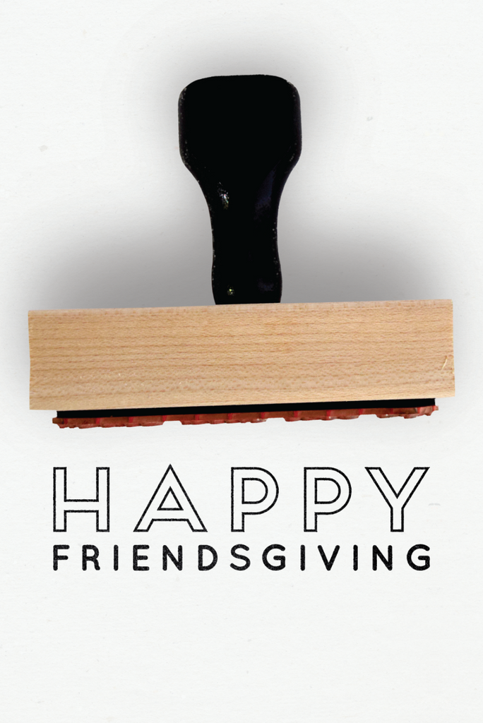 Creatiate Rubber Stamps - Elegance Holiday Stamps Collection - Happy Friendsgiving Stamp