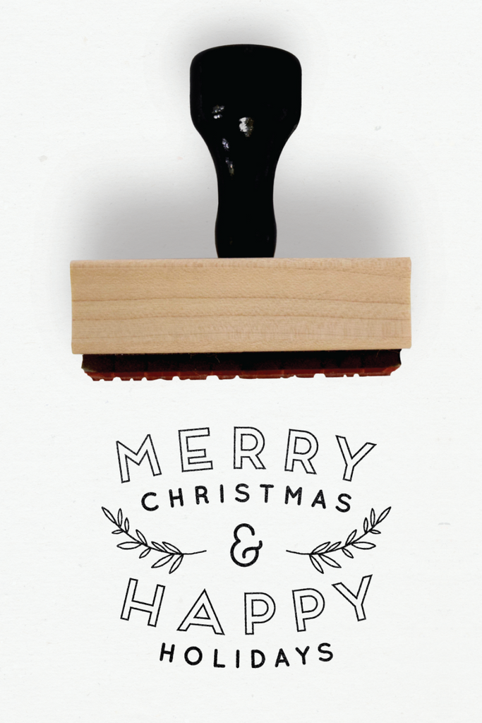 Creatiate Rubber Stamps - Elegance Holiday Stamps Collection - Merry Christmas Happy Holidays Stamp