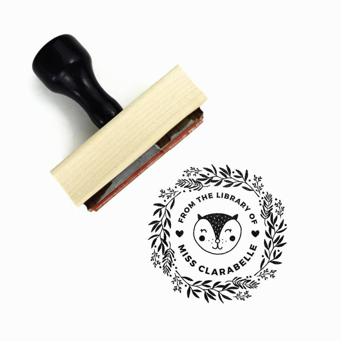 Creatiate Rubber Stamp : From the Library of Custom Kitty Cat Stamp