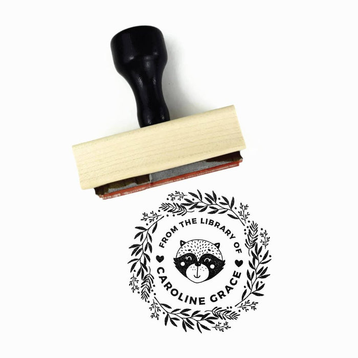 Creatiate Rubber Stamp : From the Library of Custom Raccoon Stamp