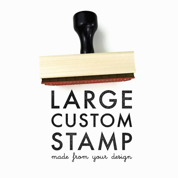 Creatiate Rubber Stamps - LARGE Custom Stamp Made From Your Design - LG Logo Branding Stamp