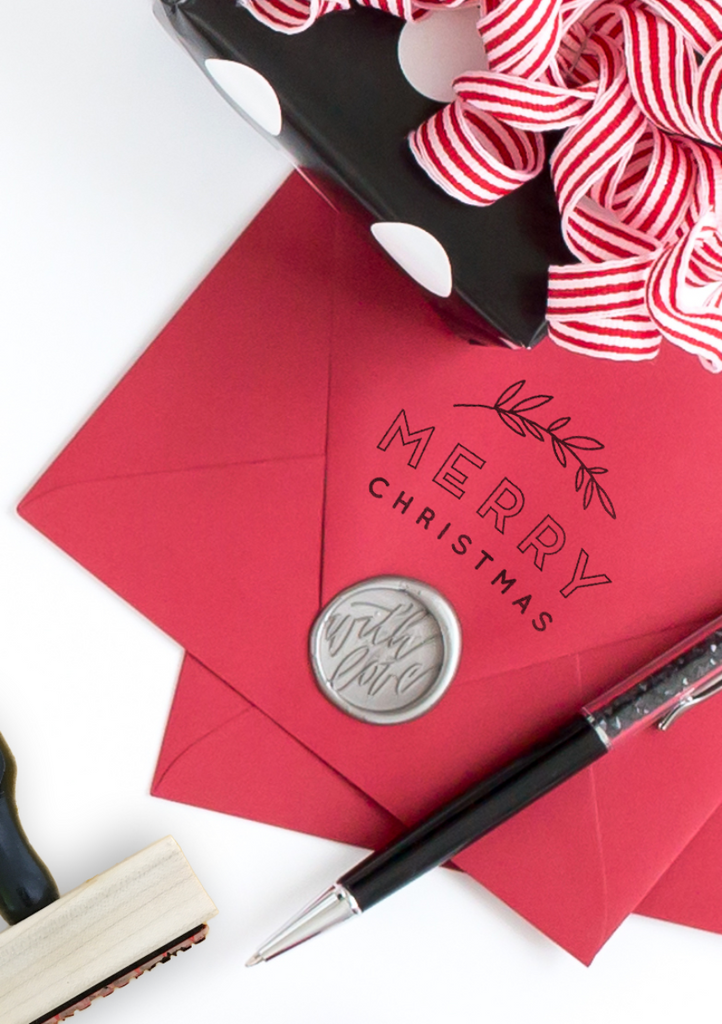 Creatiate Rubber Stamps - Elegance Holiday Stamps Collection - Merry Christmas Stamp