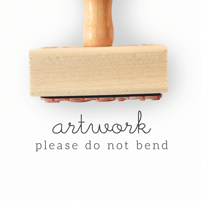 Branch Collection - Artwork / Please Do Not Bend Stamp by Creatiate - Custom Rubber Stamp - We make awesome rubber stamps so that you can create quick + easy, branded + professional custom packaging.