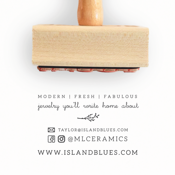 Branch Collection Business Card Stamp by Creatiate - We make awesome rubber stamps so that you can create quick + easy, branded + professional custom packaging.