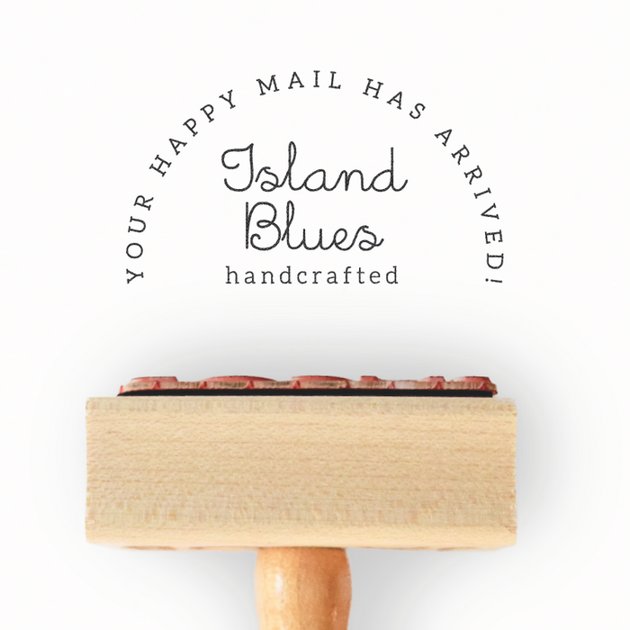 Branch Collection Custom Happy Mail Stamp by Creatiate - Custom Rubber Stamp - We make awesome rubber stamps so that you can create quick + easy, branded + professional custom packaging.