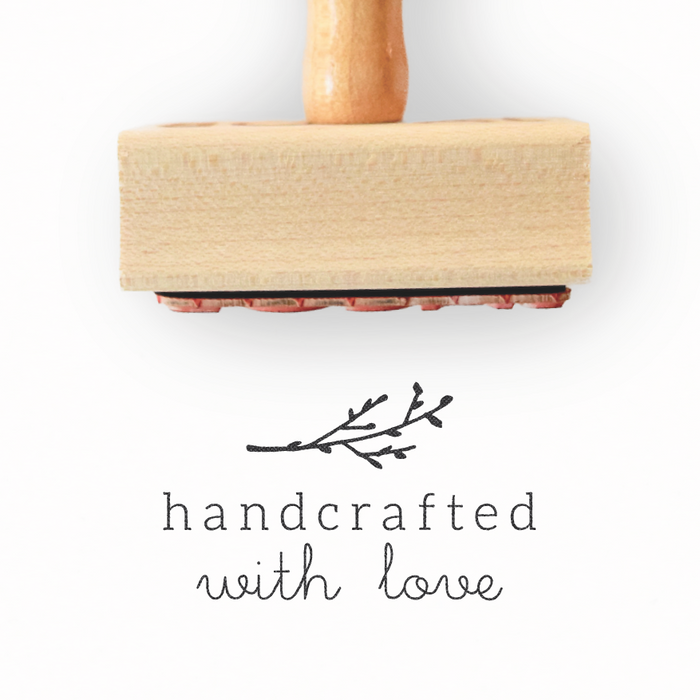 Branch Collection - Handcrafted with Love Stamp by Creatiate - Custom Rubber Stamp - We make awesome rubber stamps so that you can create quick + easy, branded + professional custom packaging.