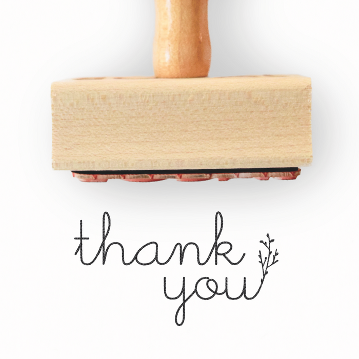Branch Collection - Thank You Stamp by Creatiate - Custom Rubber Stamp - We make awesome rubber stamps so that you can create quick + easy, branded + professional custom packaging.