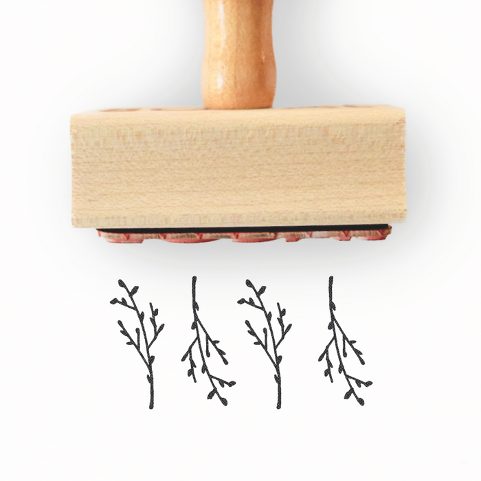 Branch Collection Branch Pattern Stamp by Creatiate - We make awesome rubber stamps so that you can create quick + easy, branded + professional custom packaging.