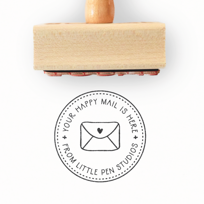A Custom Happy Mail Stamp