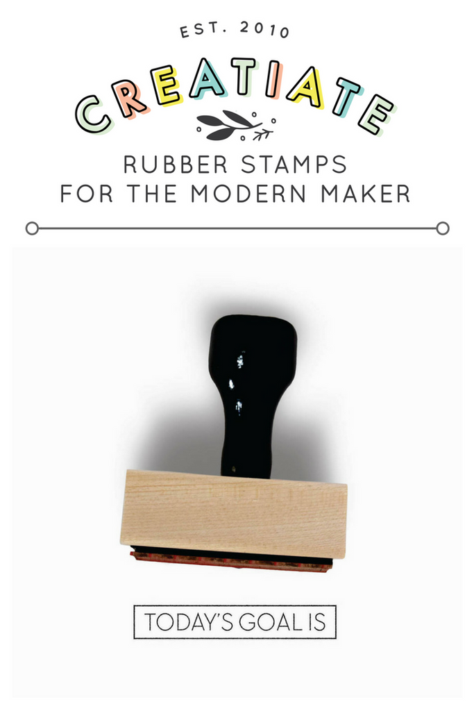 "Creatiate Rubber Stamps - Bullet Journal Collection, ""Today's Goal Is"" Stamp"