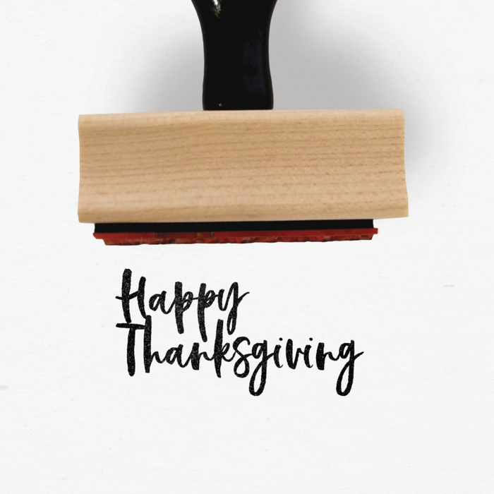 Creatiate Rubber Stamps - Calli Holiday Stamps Collection - Happy Thanksgiving Stamp