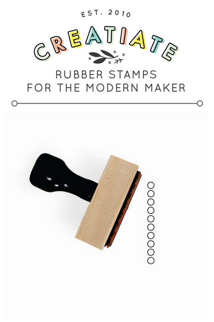 Creatiate Rubber Stamp : Circles To Do List Maker Stamp