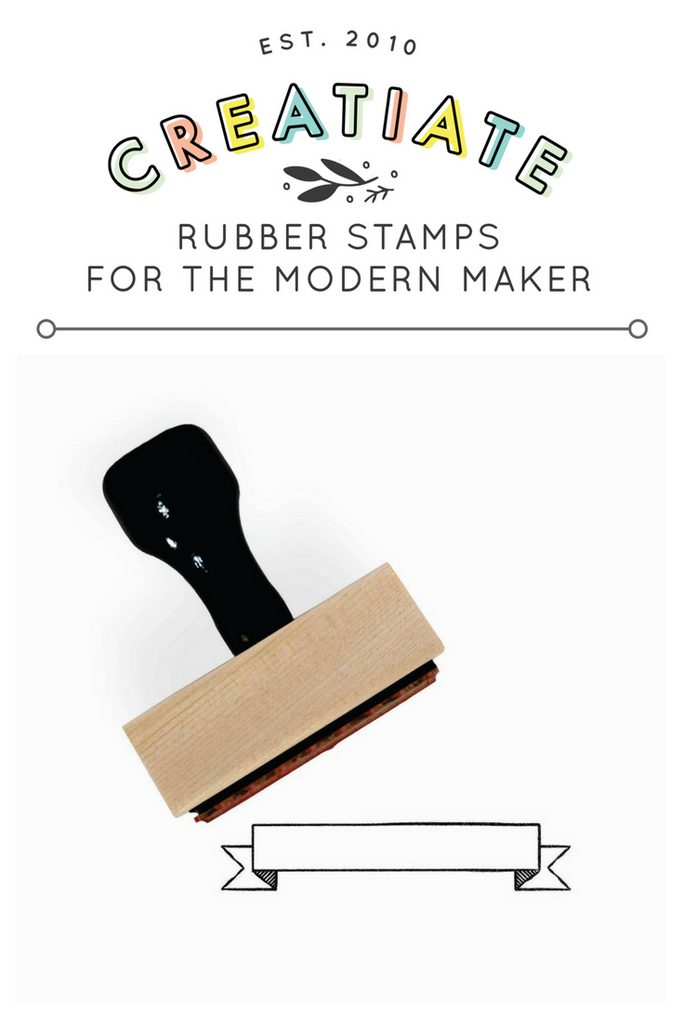 Creatiate Rubber Stamp : Banner Stamp