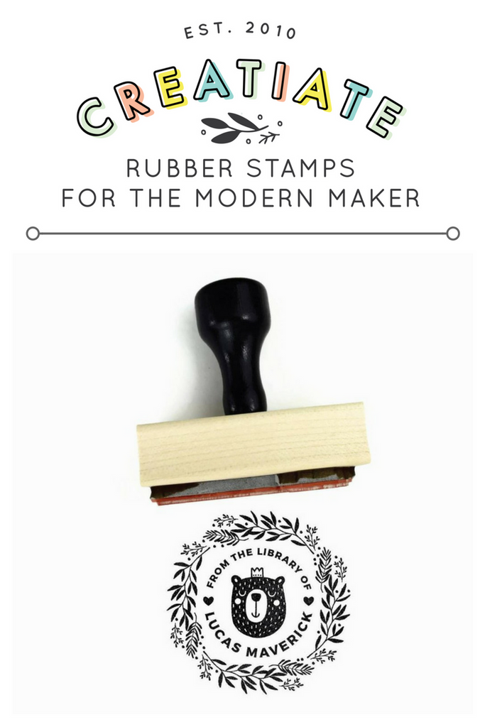 Creatiate Rubber Stamp : From the Library of Custom Bear Stamp