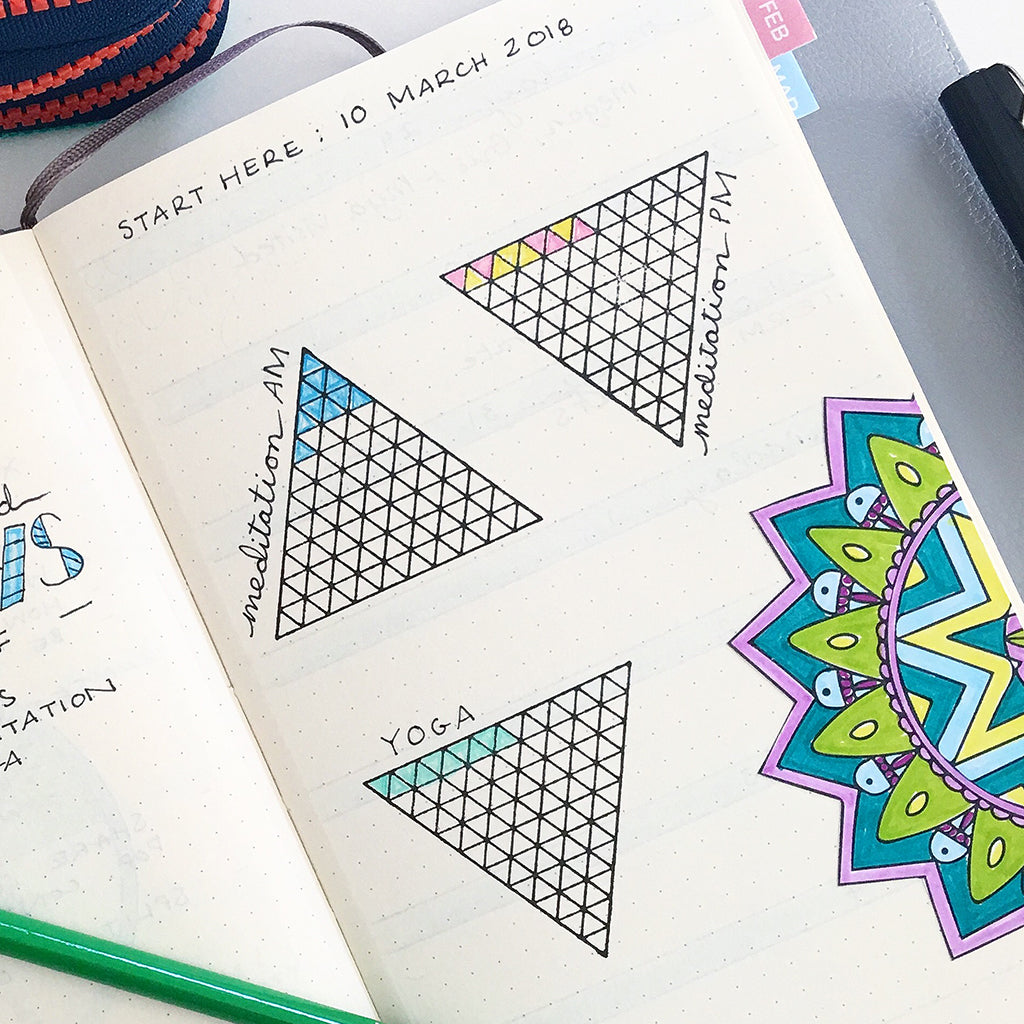 triangle habit tracker stamp creatiate