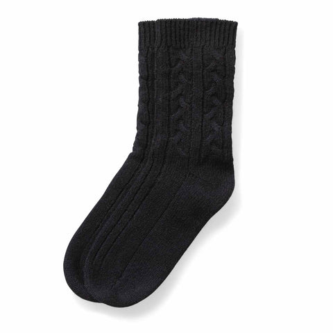 Chalet Women's Cable Cashmere Socks